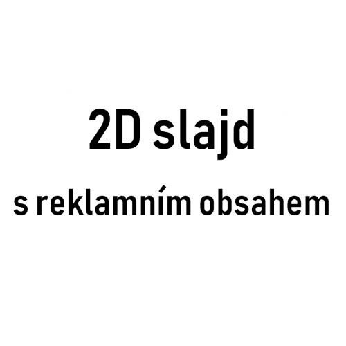 2D slajd s reklamným obsahom