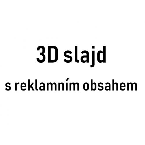 3D slajd s reklamným obsahom